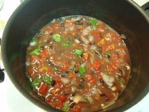 bean vegetable salad ready