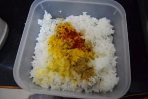 Rice salt chili
